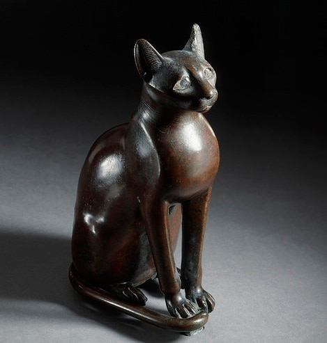 Figurine of the Egyptian goddess Bastet as a cat